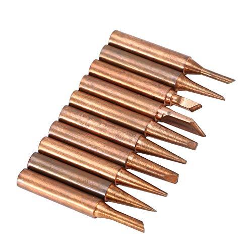 Puntas de soldar Soldadores de cobre 900M-T Soldador de repuesto para soldador 10 piezas, gratis para estaciones de soldadura 969 8586