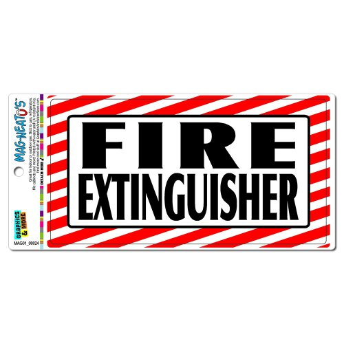 Graphics and More Fire Extinguisher - Business Sign Automotive Car Refrigerator Locker Vinyl Magnet