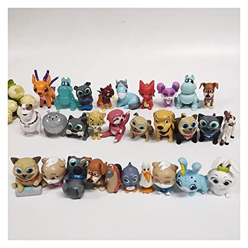 wuxia Bob perro y amigos Cachorro perro Pals Bingo Rolly pug cachorros Figuras modelo juguetes Mascota para niños Bolsa ciega muñeca (Color: 20 piezas)