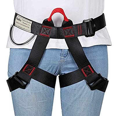 HandAcc Climbing Harness, Professional Half Body Safety Belt for Rock Climbing, Fire Rescue, Expanding Training and Other Outdoor Adventure Activities