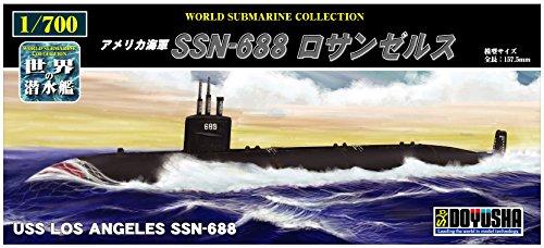 1/700 U.S. Navy SSN-688 Los Angeles (Plastic model)
