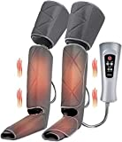 Renpho Leg Massager with Heat, Compression Calf Thigh Foot Massage, Adjustable Wraps Design for Most Size, with 6 Modes 3 Intensities, Gifts for Mom Dad Elder to Relax Leg Muscle
