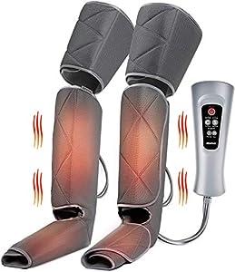 RENPHO Masajeador de piernas con calor, masaje de compresión para piernas, muslo y pantorrilla, diseño de envolturas ajustables, 6 modos 3 intensidades para relajar los músculos de las piernas