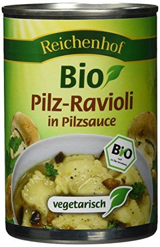 Reichenhof Bio Pilz Ravioli in Pilzsauce - vegetarisches Fertiggericht, 6er Pack (6 x 400 g)