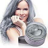 Cire Colorante Cheveux, HailiCare Cire Coloration Temporaire Cheveux pour Festivals Cosplay Soirées pour Hommes et Femmes(Gris)