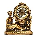 GXY Reloj Reloj Europeo Antiguo Reloj de Mesa Sala de Estar Mesa Reloj Romano Numeral Silencioso Mesa Reloj para Sala de Estar Decoración de Mesa Pequeña Mesa Reloj de Reloj Reloj Reloj,B