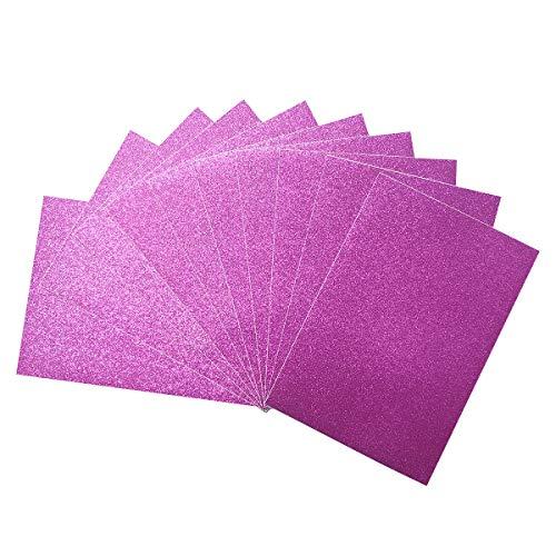 BIKHYY 10 Blatt Glitzer Klebefolie A4 Selbstklebende Glitzerfolie Aufkleber Bastelfolie für DIY Handwerk Scrapbooking Deko (Rosa)