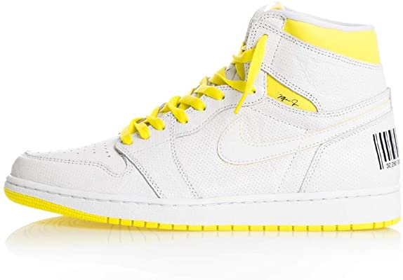 Amazon.com | Jordan Air 1 (White/Yellow | Basketball
