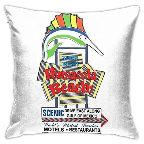 Pensacola - Funda de cojín decorativa para sofá de playa, diseño de peces eléctricos, 45,7 x 45,7 cm
