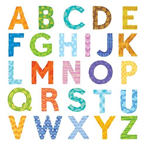 DECOWALL DA-1708A Letra del alfabeto mayúscula Vinilo Pegatinas Decorativas Adhesiva Pared Dormitorio Salón Guardería Habitación Infantiles Niños Bebés