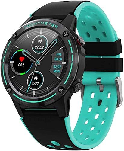 Reloj inteligente brújula función de altitud inteligente Bluetooth llamada GPS reloj deportivo para Android e iOS Classic-Green Upscale/Black-Green