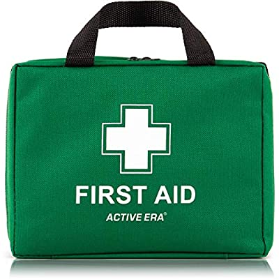 220 Piece Premium First Aid Kit Bag - Includes Eyewash, 2 x Cold (Ice) Packs and Emergency Blanket for Home, Office, Car, Caravan, Workplace, Travel and Sports (Green) from The Body Source