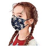 5 Piezas m_ascarilla Reutilizables Antipolvo protección Infantil con Bolsa de Filtro y Correas elásticas para los oídos ,impresión de Moda