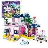 Juegos de Construcción de Casas en la Playa Bloques de Construcción de Villas de Vacaciones Playset Junto al Mar Jueguetes Creativos Regalo Juguetes de Construcción para niños de 6 años (360 Piezas)