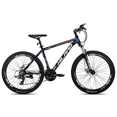 Hiland 26'' Aluminum Mountain Bike 24 Speeds,16.5/18 /19.5 Frame Size