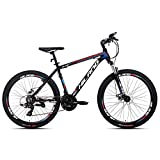 Hiland Mountain Bike 26 Inch Aluminum MTB Bicycle for Men with 18 Inch Frame Kickstand Disc Brake...