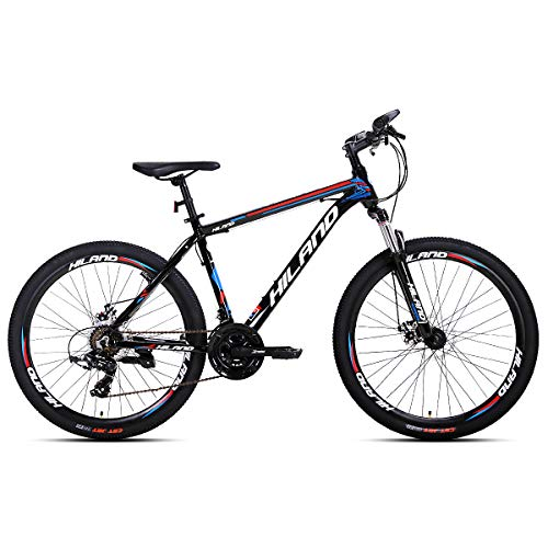 Hiland 26 Inch Mountain Bike for Men with 16.5 Inch Aluminum Black