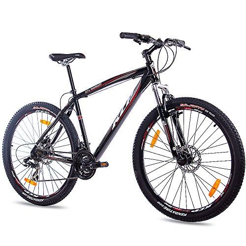 KCP Garriot, bicicletta mountain bike 27,5', unisex, con cambio Shimano a 21 marce, colore nero, 48 centimetri
