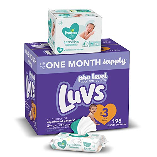 One Month Supply of Luvs Baby Diapers and Pampers Baby Wipes Now $31 (Was $43)