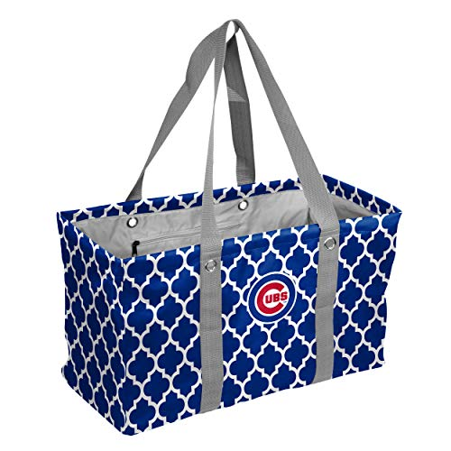 logobrands MLB Chicago Cubs Quatrefoil Picnic Caddy, One Size, Multicolor
