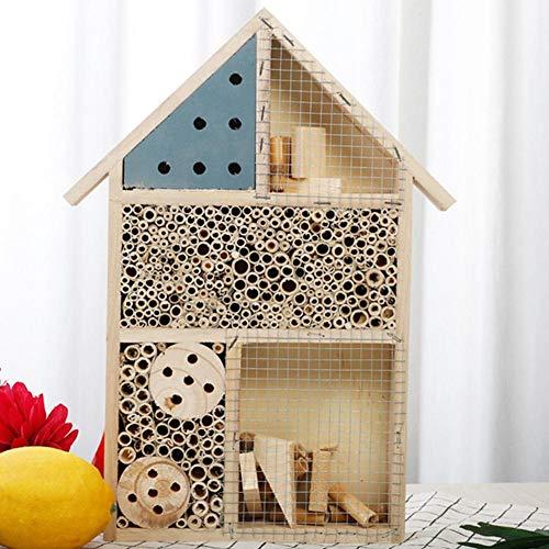 Insektenhotel Aus Holz Hochwertiger Insektenhaus-Bausatz, Praktisches Dübel-Stecksystem Bienenhotel/Unterschlupf Für Insekten Insektenhotel Für Schmetterlinge, Käfer, Bienenhaus Zum Aufhängen, Balkon