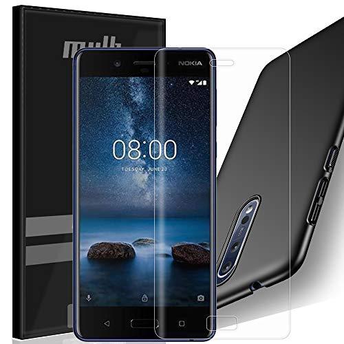 MYLB Nokia 8 Pellicola protettiva con custodia,[3 pezzi] 2x TPU piena copertura Pellicola protettiva con 1x PC cover custodia per Nokia 8