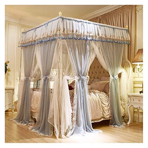 ZHIQIANG Mosquitera de la Cama. Tabla de la Red de Cama para niñas, Columna Cuadrada Conjunto de Dosel de Cama de mosquitera Elegante, sombreado, fácil de Instalar (Size : For 1.8×2.2m Bed)
