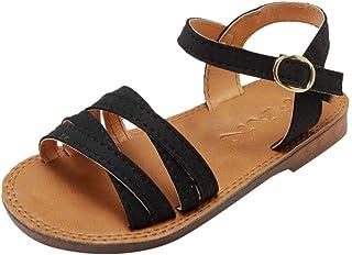 WINJIN Chaussures pour Enfants Fille Sandales de Plage Chaussures Casual Bohême Sandales Bout Ouvert pourMixte Enfant (1-1...