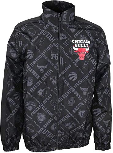 New Era NBA AOP Track Jacket Chibul Giacca Uomo, Black, M