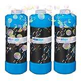 Relaxdays 3X 1 Liter Seifenblasenflüssigkeit im Set, Nachfüllflasche, für Seifenblasenmaschine,...