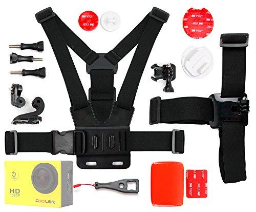DURAGADGET Kit de Accesorios para Cámara Deportiva ARIVAL aQtion CAM RC | Braun Jumper II | Takara...