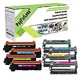 PayForLess 4PK TN-210 TN210 Toner + 4PK DR-210CL DR210CL Drum Unit for Brother HL-3040cn HL-3070cw HL-3045cn HL-3075cw MFC-9010cn MFC-9125cn MFC-9320cw MFC-9325cw Printers