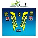 Ecoshirt HN-GKXZ-0T0T Pegatinas Horquilla Fork Rockshox Xc30 2016 Am34 Stickers Aufkleber Decals Adesivi Bike BTT MTB Cycle, Amarillo 26' y 27.5'