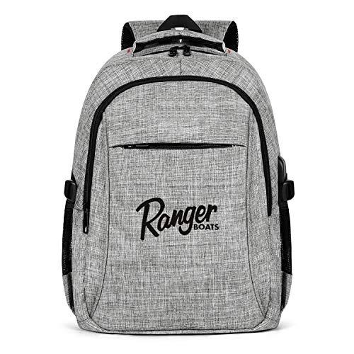 HYMANWASQHFT Laptop Best Backpack Black-Fishing-Boats-bass-Boat- Extra School Bookbags with USB Port Designer