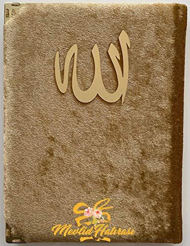 Mevlid Hatırası Kadife Yasin Dua Kitabı (10 Adet)/ Samtbezogenes Gebetsbuch (10 Stück) (gold)