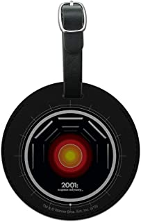 2001: A Space Odyssey Hal Round Leather Luggage Card Suitcase Carry-On ID Tag
