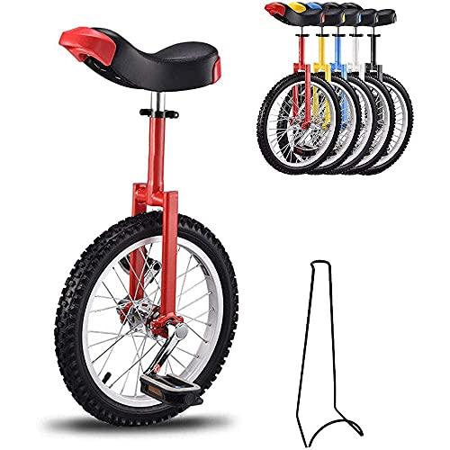 YVX Monociclo Niños Monociclo Monociclo Ajustable en Altura Bicicleta 16 Pulgadas 18 Pulgadas 20 Pulgadas con Soporte para Bicicletas y Herramientas de Montaje es la Carga máxima 150 kg