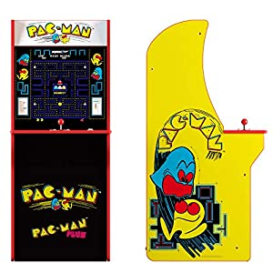 ARCADE1UP Retro Arcade Machine Spielautomat (Pac-Man, 1.20m hoch, 17 Zoll Full Color High Resolution Display, Sound, orignal Joystick und Steuertasten)