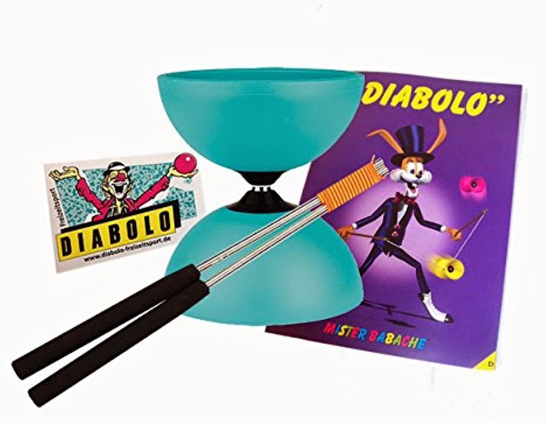 Diabolo Jazz (Türkis) + Handsticks Alu (Schwarz) + Jonglierheft + AufkleberB00NHTWF36Starke Hitze- und HitzeBesteändigkeit  | Großartig