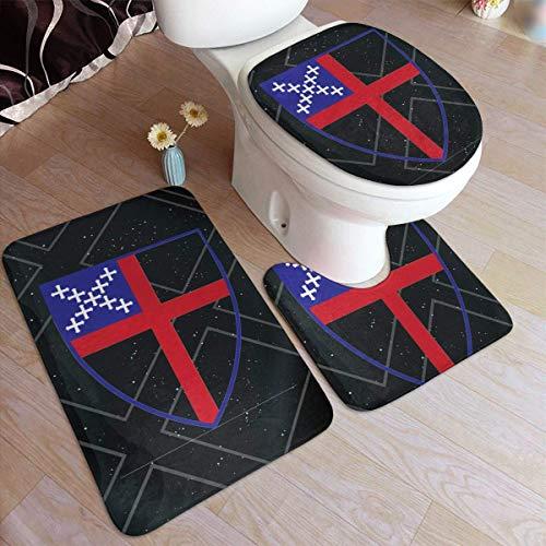 Bisschoppelijke kerk Logo deurmat tapijt Sets (3 stks) keuken tapijten 3-delige tapijt badkamer tapijt Set toiletbril Cover Combo
