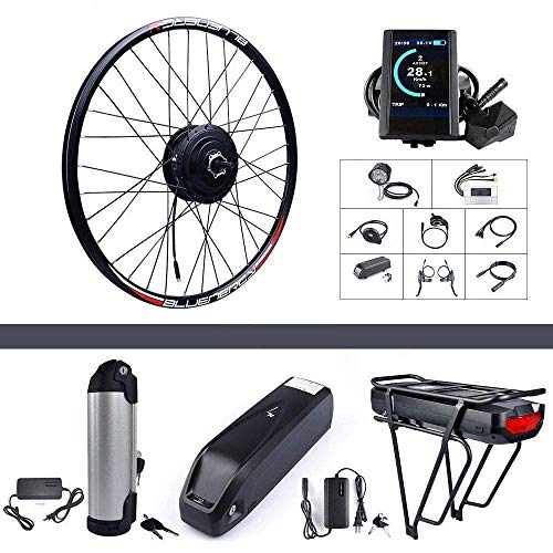 "Bafang 48V 500W Rear Hub Motor Kit Electric Bicycle Conversion Kit for Bikes 26"" Wheel (SW102 Display, 48V 17.5Ah Shark Battery and Charger)"