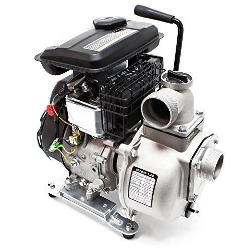 Wiltec Pompa dell'Acqua a Benzina LIFAN 9m³/h 20m 1.4kW 1.9PS 50mm Pompa da Giardino