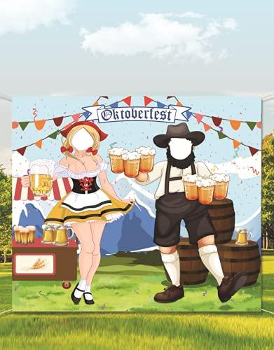 HPOLW Oktoberfest Party Decorations, Oktoberfest Photo Prop, Suministros Divertidos de Juegos Oktoberfest, Fondo de Fotomatón de para el Festival de la Cerveza Bávara