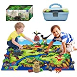 Product Image of the ToyVelt Dinosaur Play Set Dinosaur Toys Includes Dinosaur Figures, Trees, Rocks,...