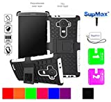 Lg G4 Case,LG G4 Dual Layers Cover Case,SupMax™Hybrid RubberizedTPU+PC [Scratchproof] [Shock proof] [Skidproof] Impact Resistant Hard Shell With Kickstand [Gifts] for lg g4 (White)