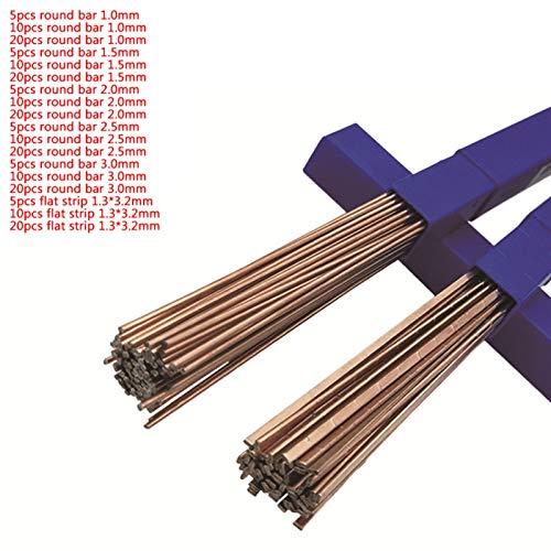 jidan Bequemer haltbarer Elektrodenschweißdraht 5pcs 10pcs 20pcs Messingschweißdrahtelektrode Löten Rod No Need Lotpulver Schweißdrähte (Diameter : 1.3x3.2mm, Material : 5pcs)