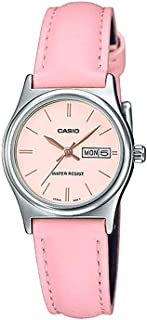 Casio Womens Quartz Dress Watch, Analog and Leather- LTP-V006L-4BUDF