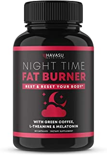 Havasu Nutrition Night Time Fat Burner | Metabolism Booster, Appetite Suppressant & Sleep Supplement to Support Weight Los...
