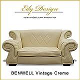 Perros sofá Dog Bed Benwell Vintage Piel Sintética Color Crema