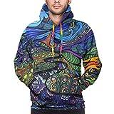 Love girl Psychedelic Trippy Field Herren Athletic Fit Hooded Sweatshirt Active Hoodie